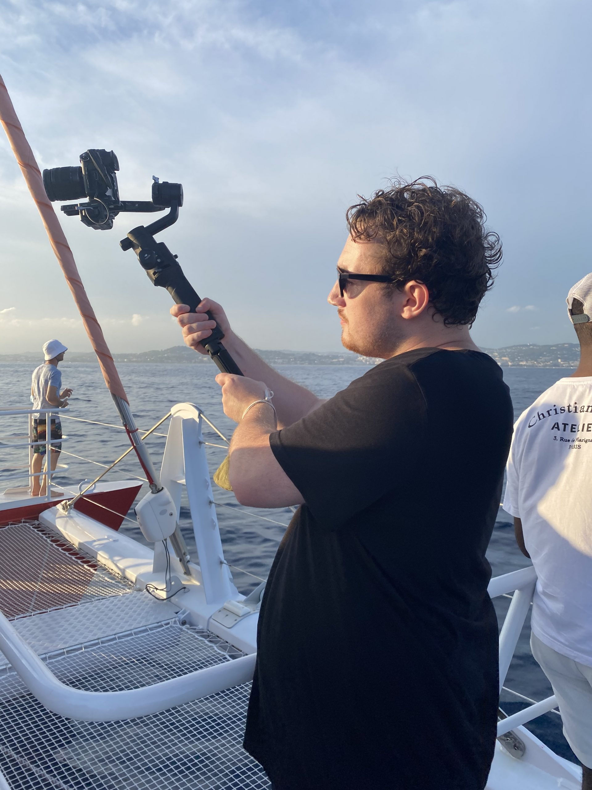 Loving filming a boat party